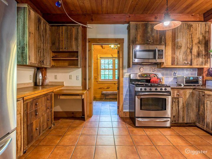 Kitchen: view into mudroom.