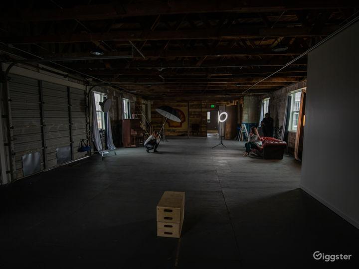 Large, open floor plan.