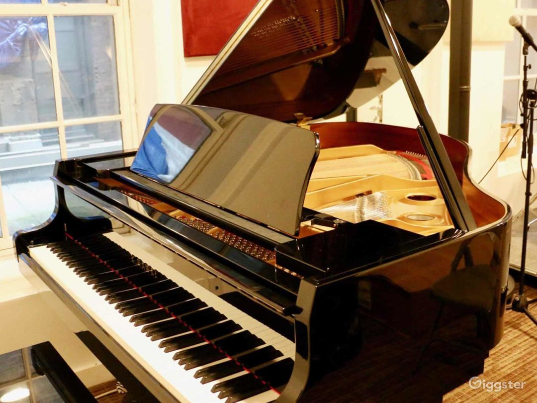 Equipped Old Style Studio with Brand New Kawaii Grand Piano in NY Photo 1