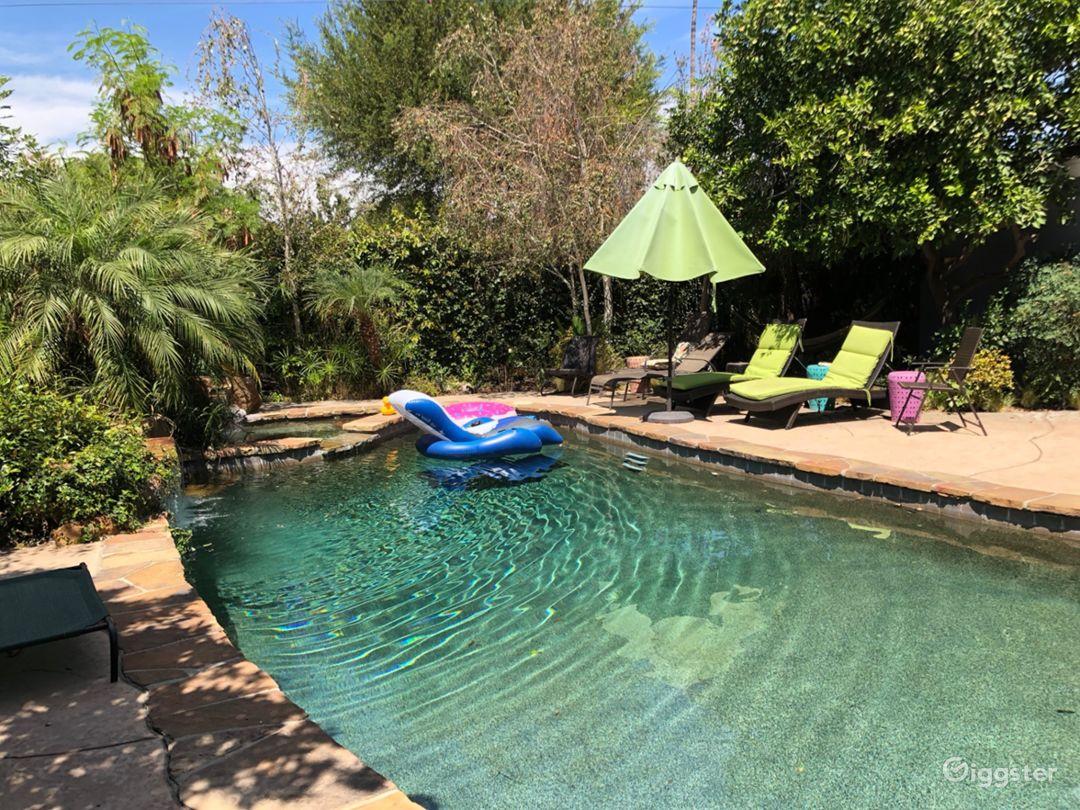 Backyard Tropical Oasis - Pool/Patio/Fireplace Photo 2