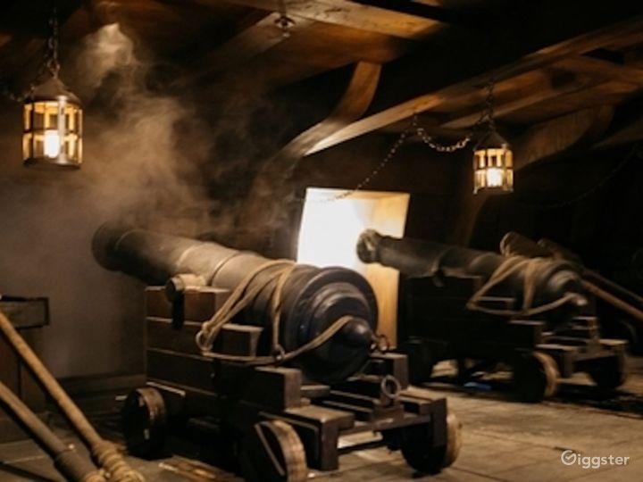 18th Century Frigate - Interior w/ Three-mast Photo 4