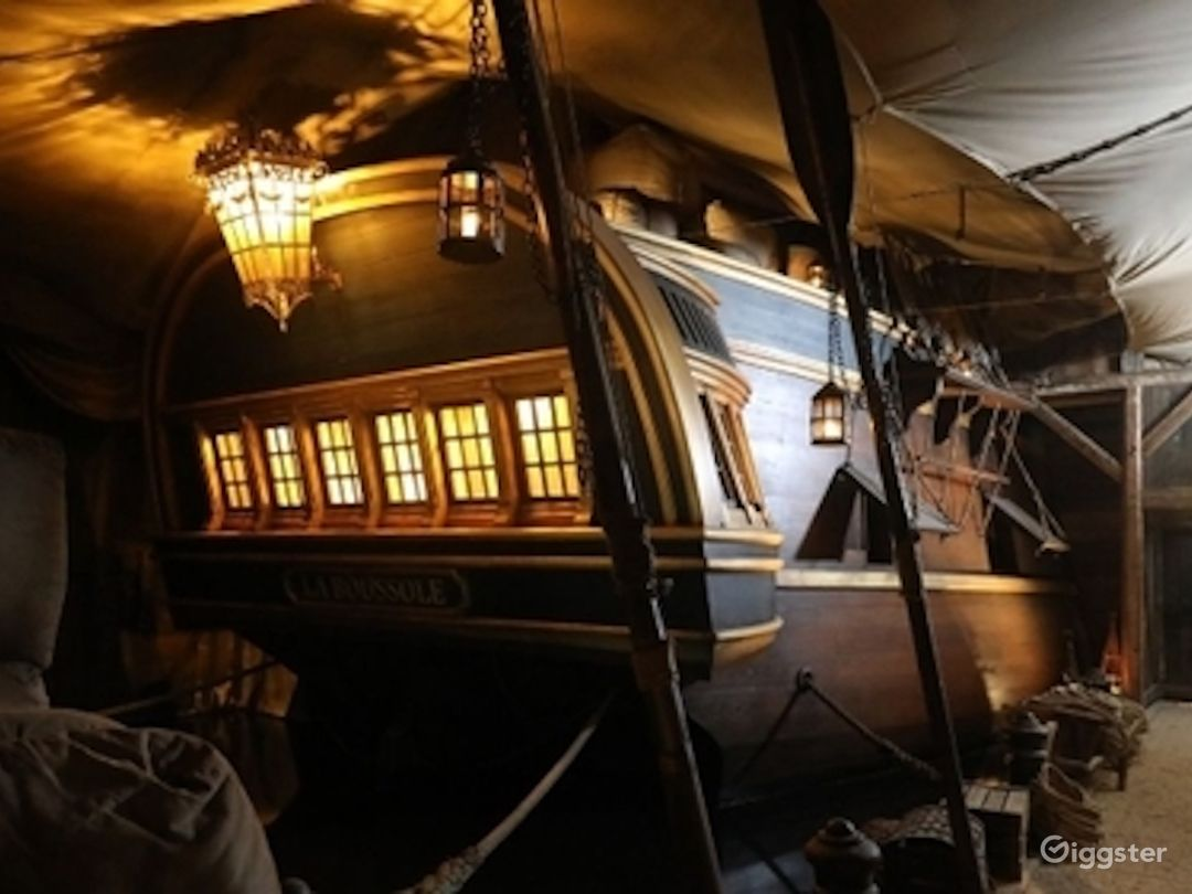 18th Century Frigate - Interior w/ Three-mast Photo 1