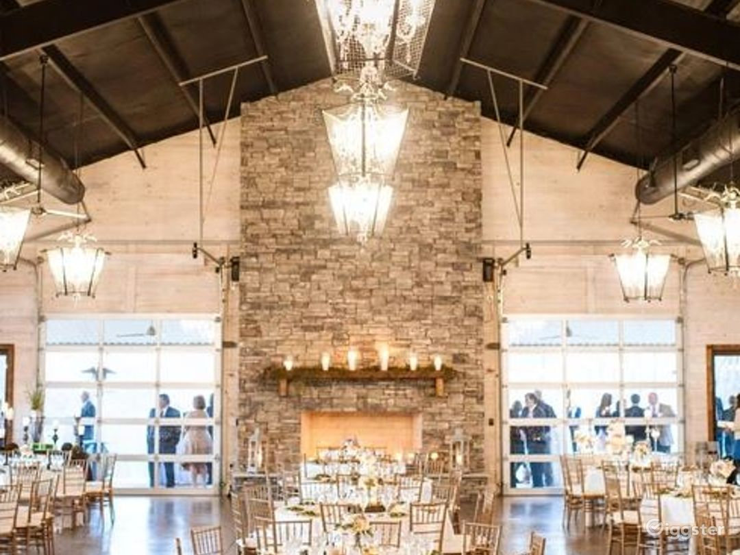 Rustic Venue with a Picturesque Meadow Backdrop  Photo 1