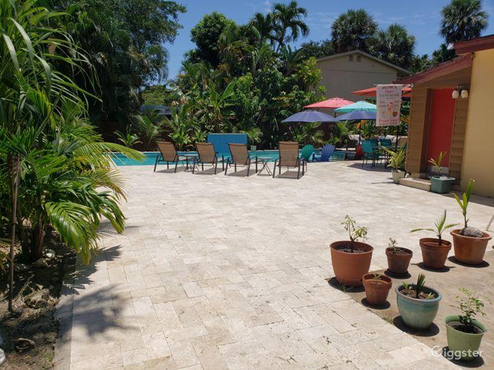 Backyard area for entertaining.
