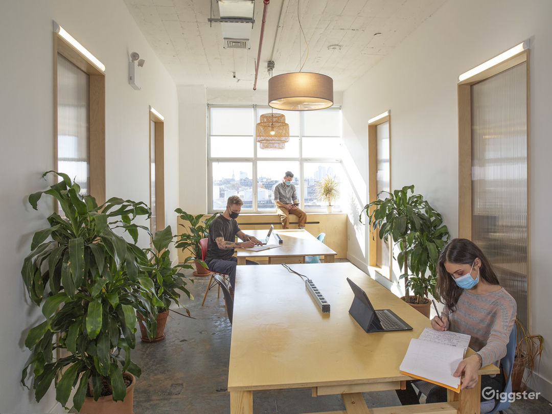 Modern and Dynamic Office Space with Natural Light Photo 1