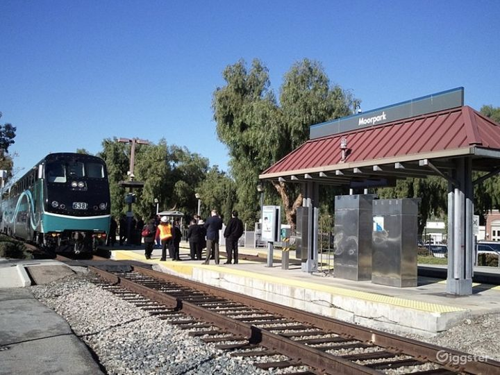 Moorpark train station across the street