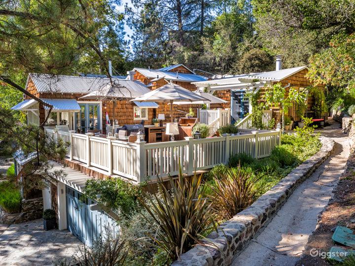 House & Outside Wood Deck