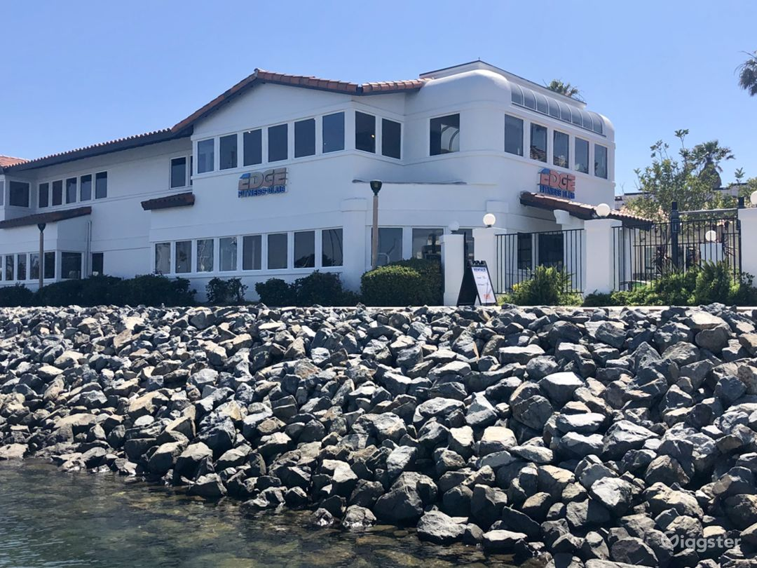 10,000 sq foot, 2 story, water front, free standing building  providing amazing views of the channel islands harbor and santa monica mountain range from all work-out areas