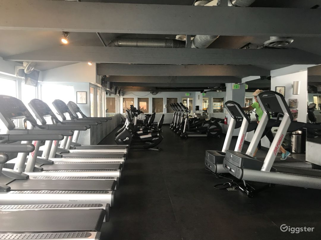 25 cardio machines located on second floor of the club.