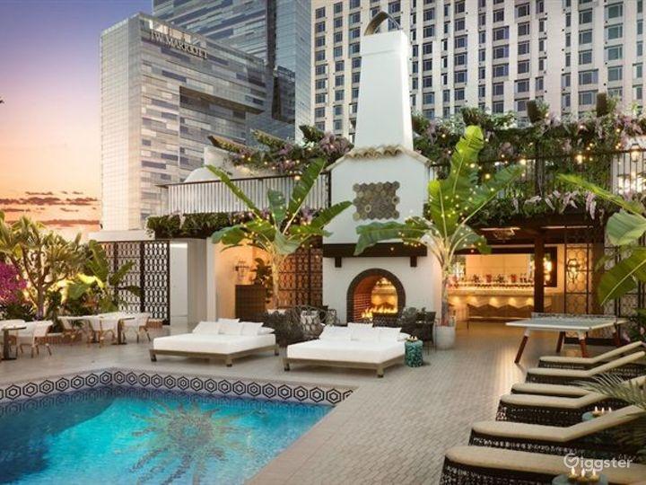 Modern Rooftop Pool in LA