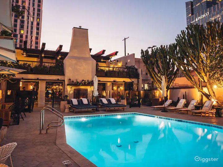 Modern Rooftop Pool in LA Photo 3