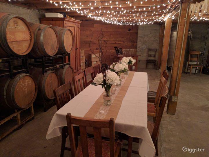 Winery Barrel Room