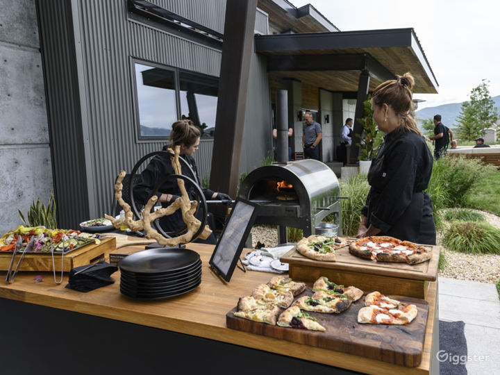 outdoor catering as set up by Daimler for June 2019 event