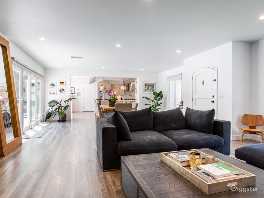 Open living & dining space