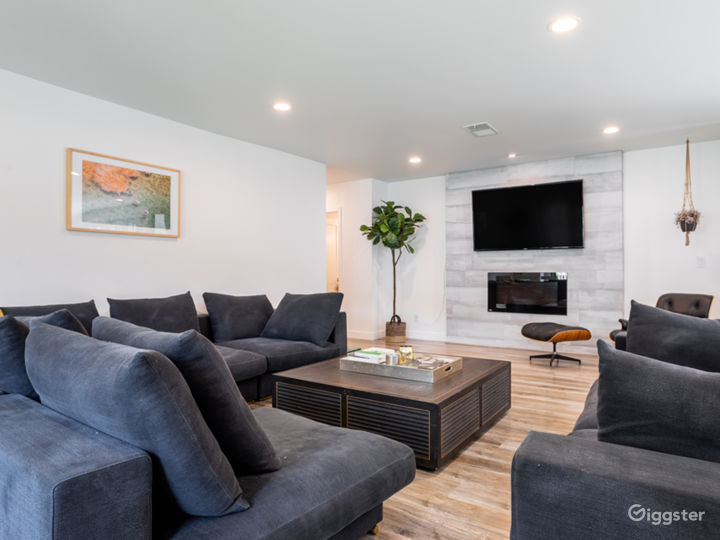 Open living room with large seating area