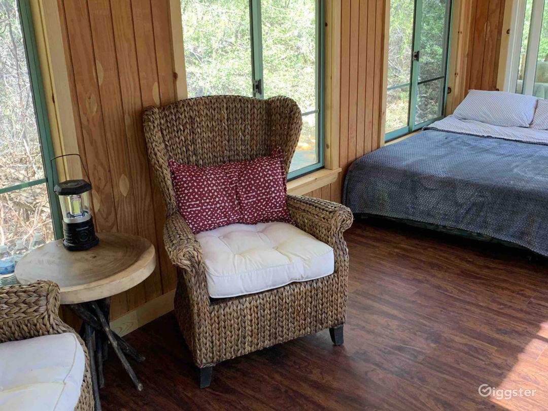 Intimate Riverside Cabin Photo 1