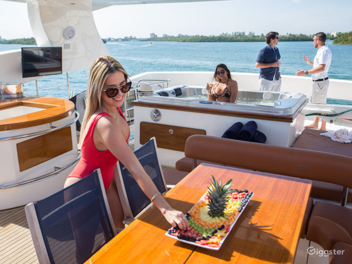 Enormous, One of a Kind 85FT AICON Party Yacht Space Events Photo 2