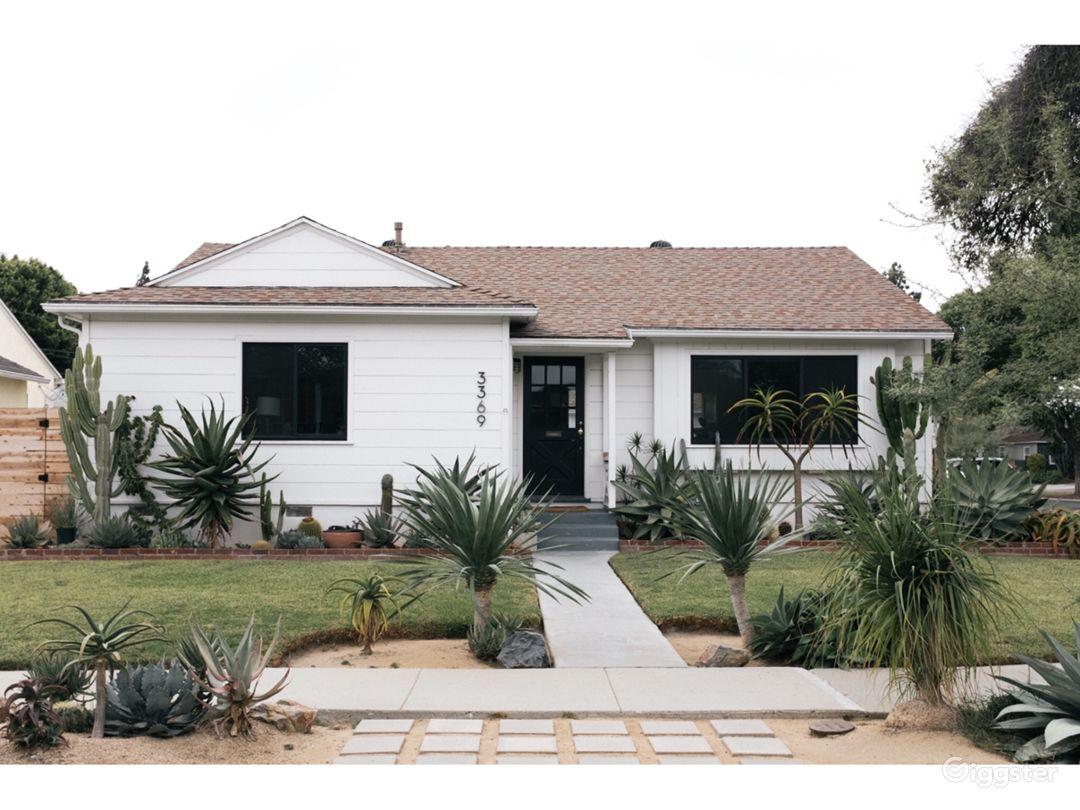 Casa Zeta is a California Bungalow set amongst rare cactus and succulent gardens.