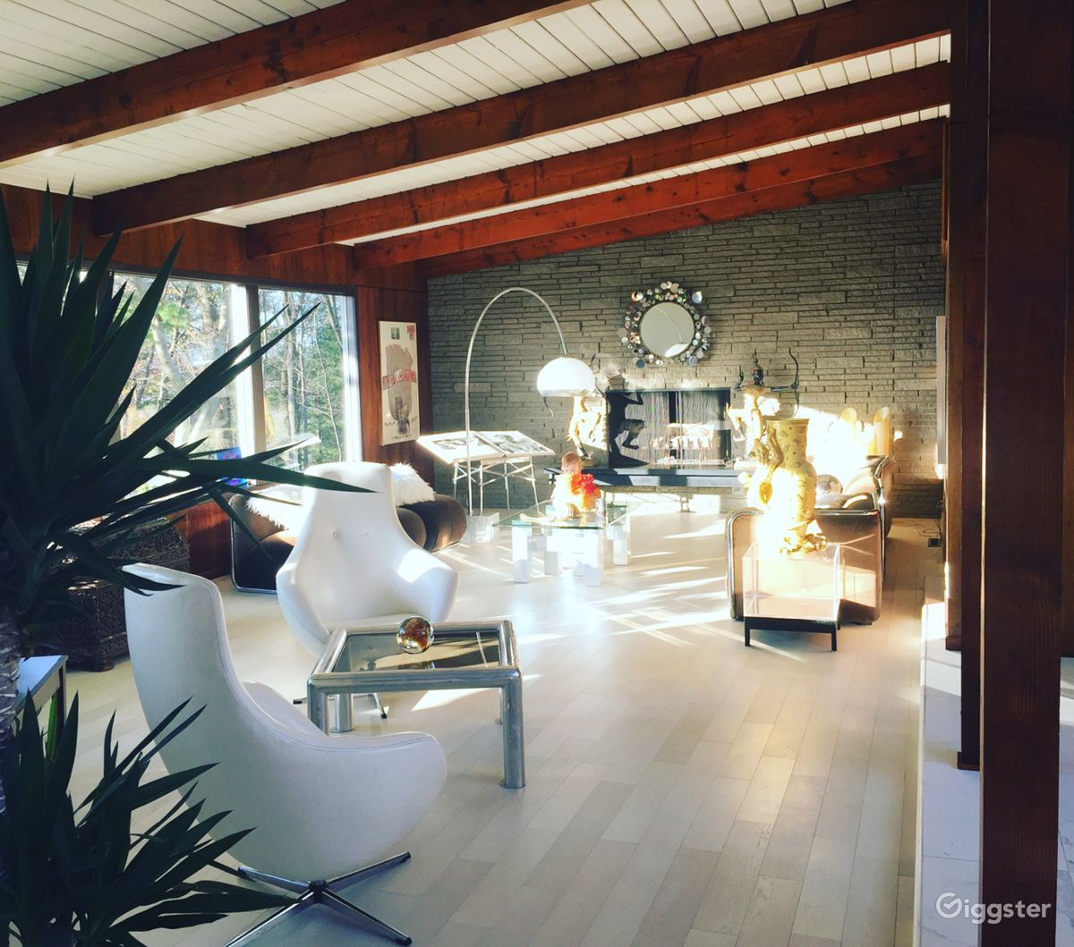 Rent the houseresidential 60s modern designer home with hudson valley views for film