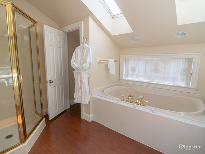 Oversized jetted tub.