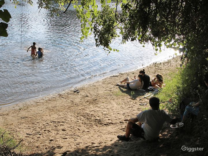 Rustic former-scout camp riverfront park Photo 2