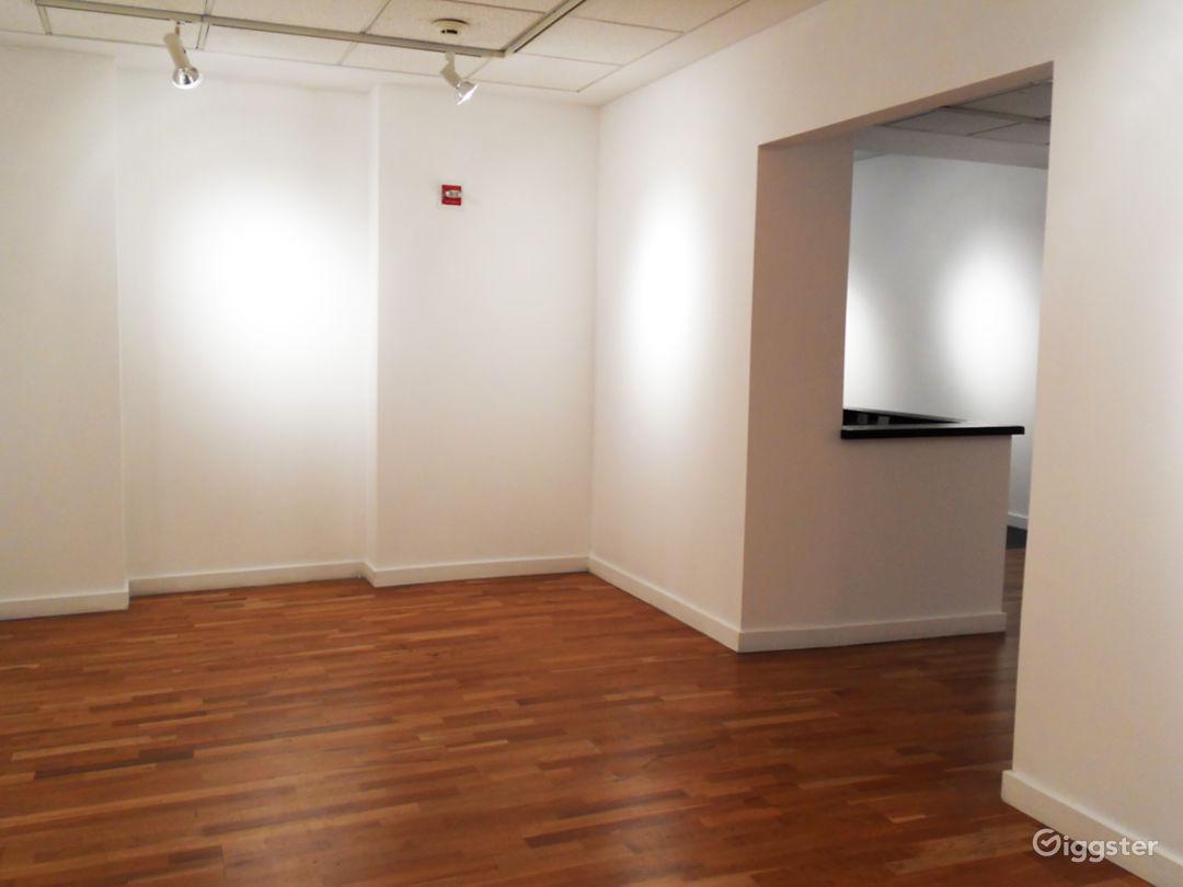 """Smaller room (""""Gallery II"""") adjacent to desk area"""