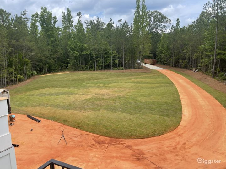 Ball field style front yard