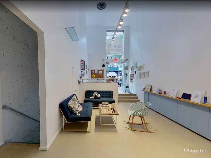 Large Reception/Hall way to entertain guests - former Art Gallery of Yoko Ono