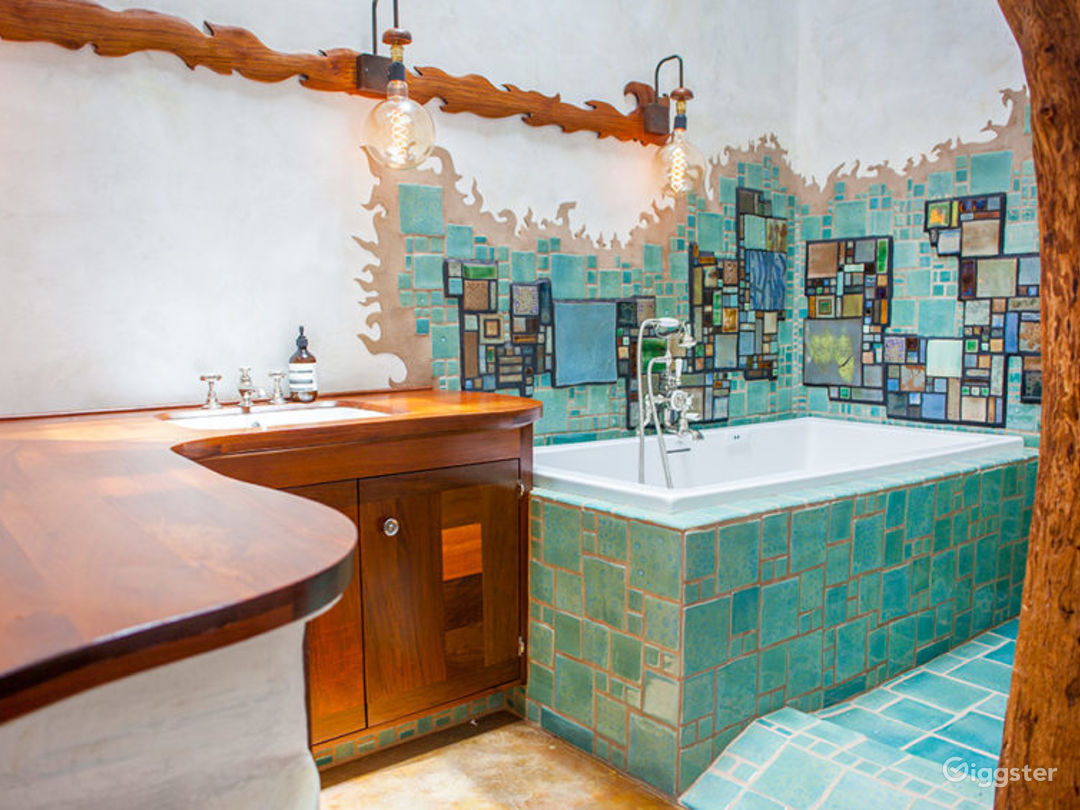 All three giant baths feature custom tile work, natural light and no right angels!