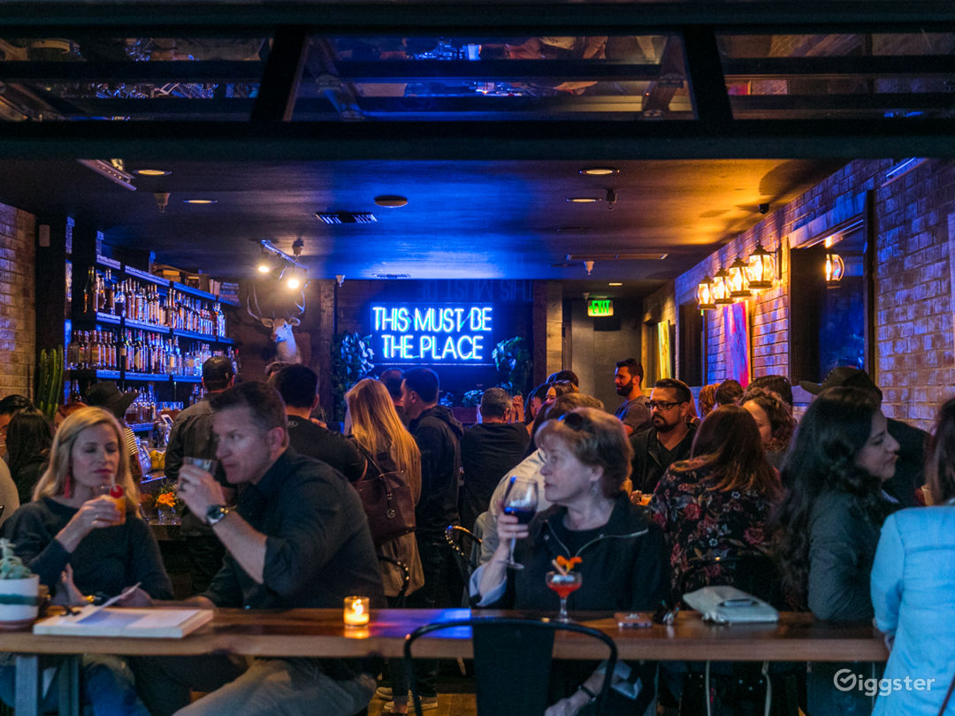 Interior Main Level Bar with People