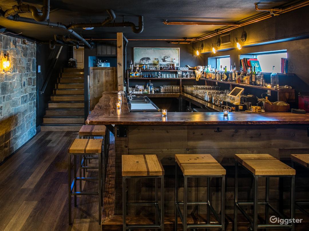 """Downstairs """"Speakeasy"""" Bar No. 1."""