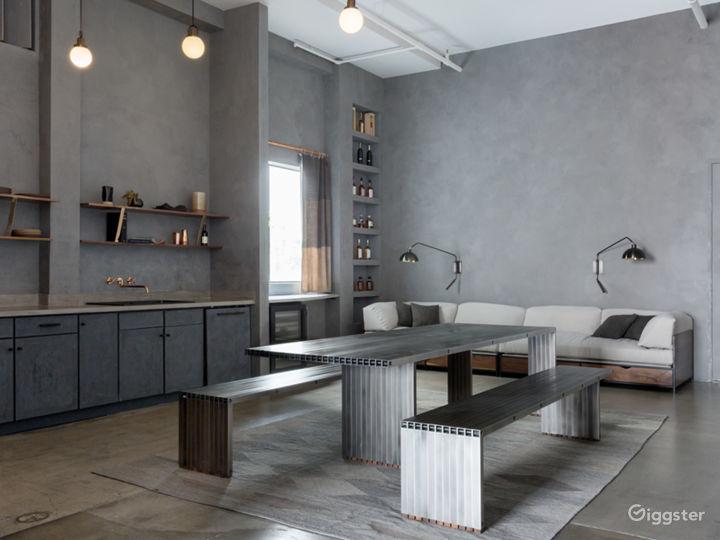 The furnishings are all custom designed by artist Stephen Kenn.