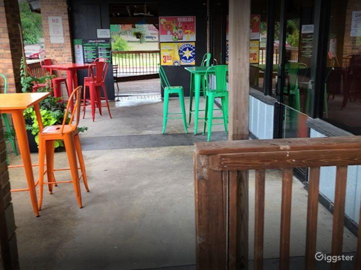 A Rustic Outdoor Dining Space in Cedar Park Photo 5