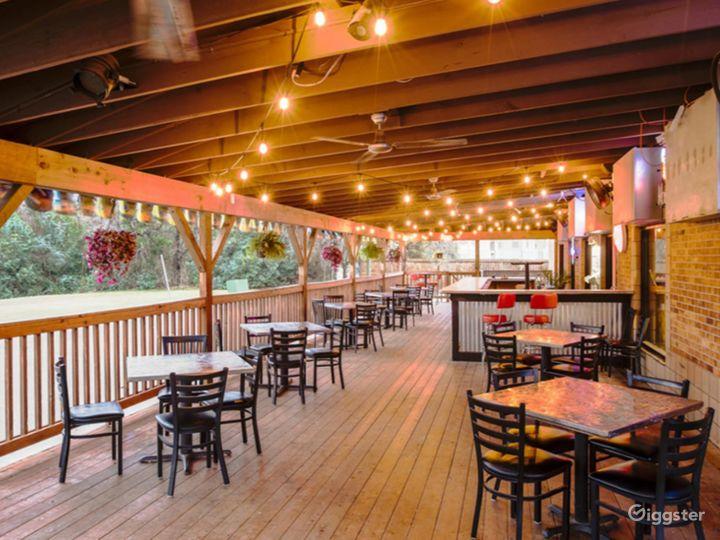 A Rustic Outdoor Dining Space in Cedar Park Photo 2