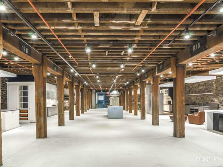 Modern Space with Rustic Wood Beams Photo 2
