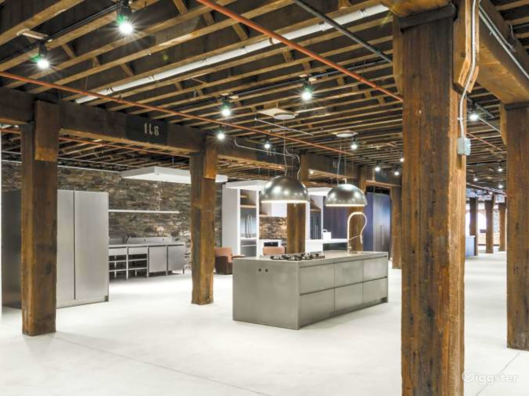 Modern Space with Rustic Wood Beams Photo 1