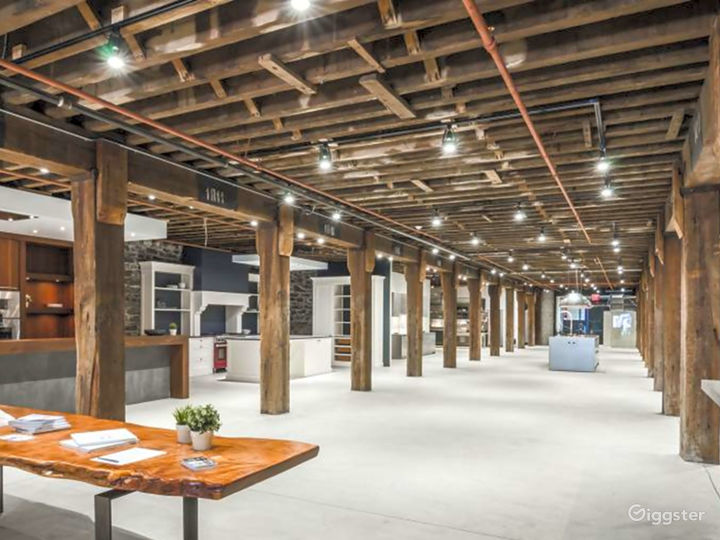 Modern Space with Rustic Wood Beams Photo 3