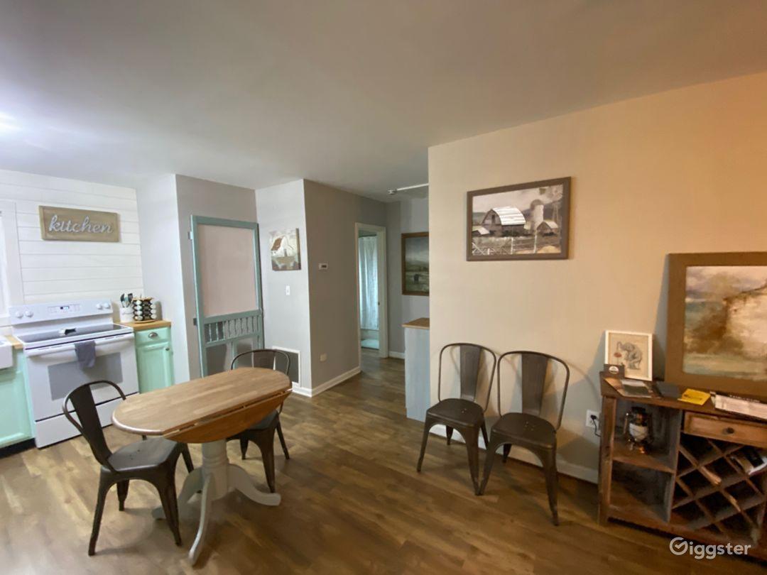Full view of left side as you walk in the door.