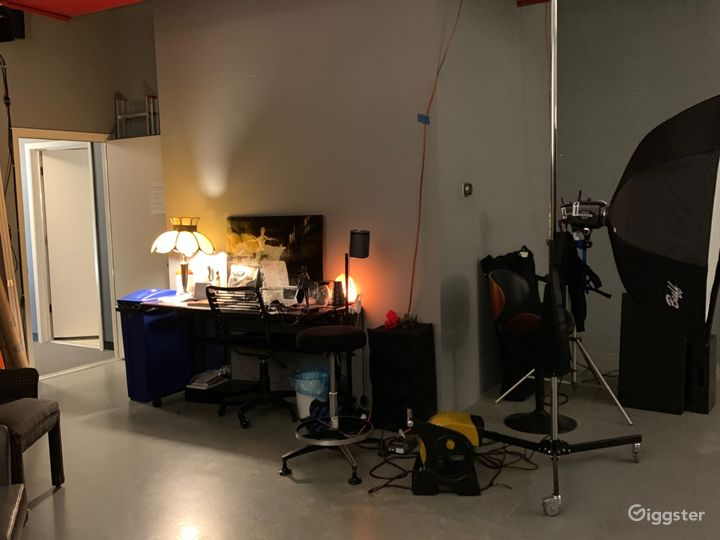 Work table in Camera Room.