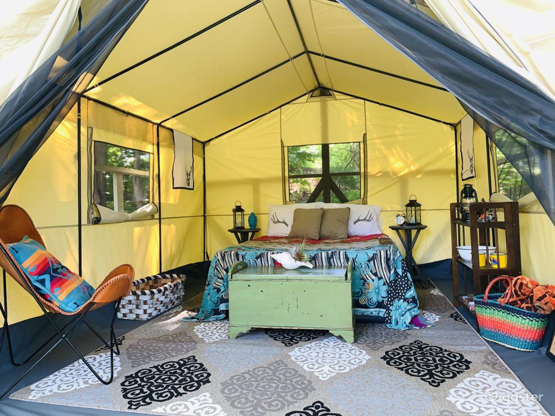 Safari tent setup