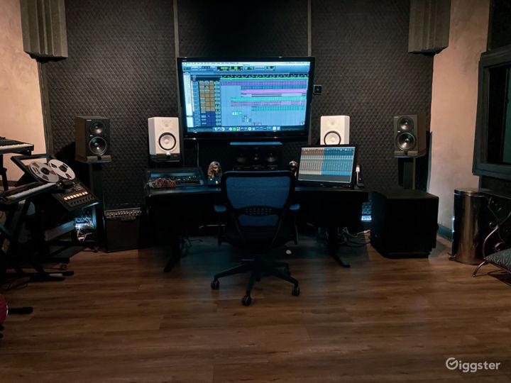 Recording studio with private entrance