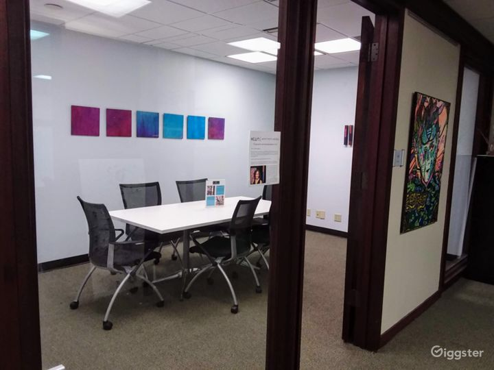 Interior View Meeting Room in Downtown Miami