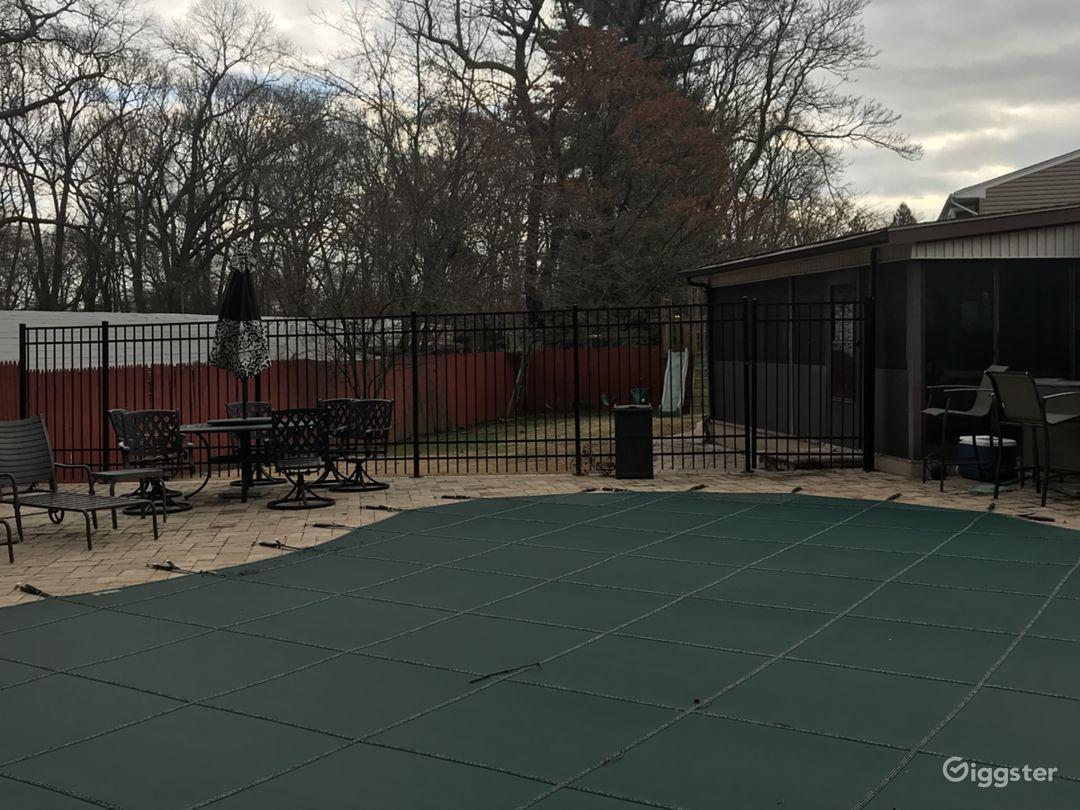Backyard and Enclosed Porch