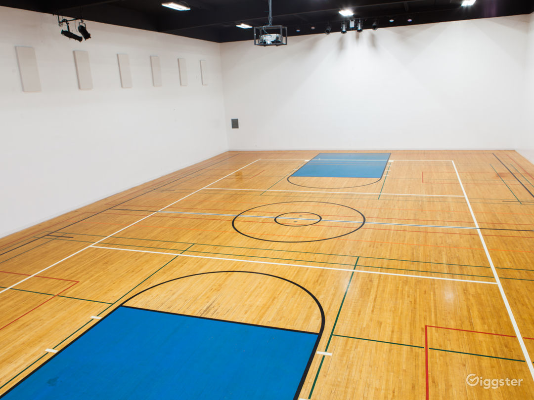 Converted Gym With Original 60's Basketball Floor Photo 1