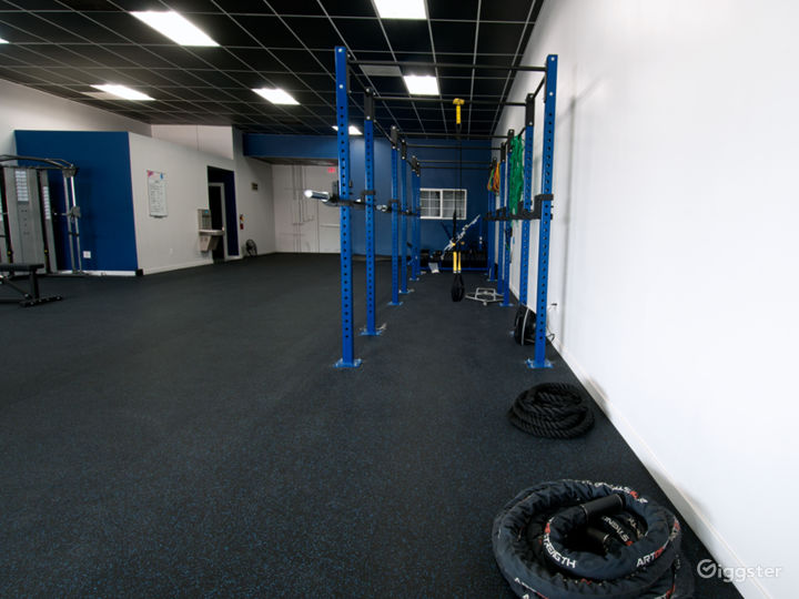 Black mats and gym equipment