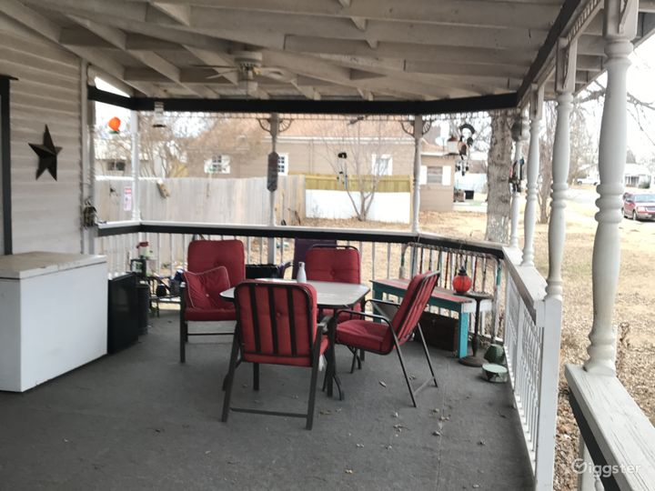 Gathering area on Porch