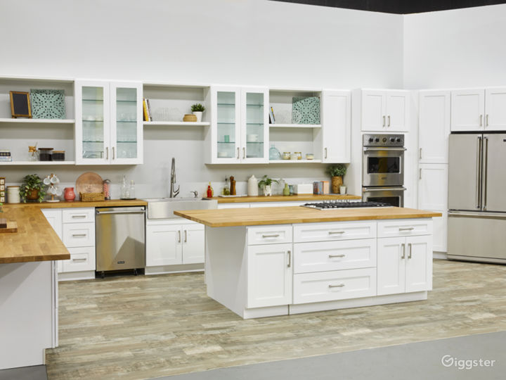 Kitchen Set, surfaces can be swapped for white marble and a darker wood