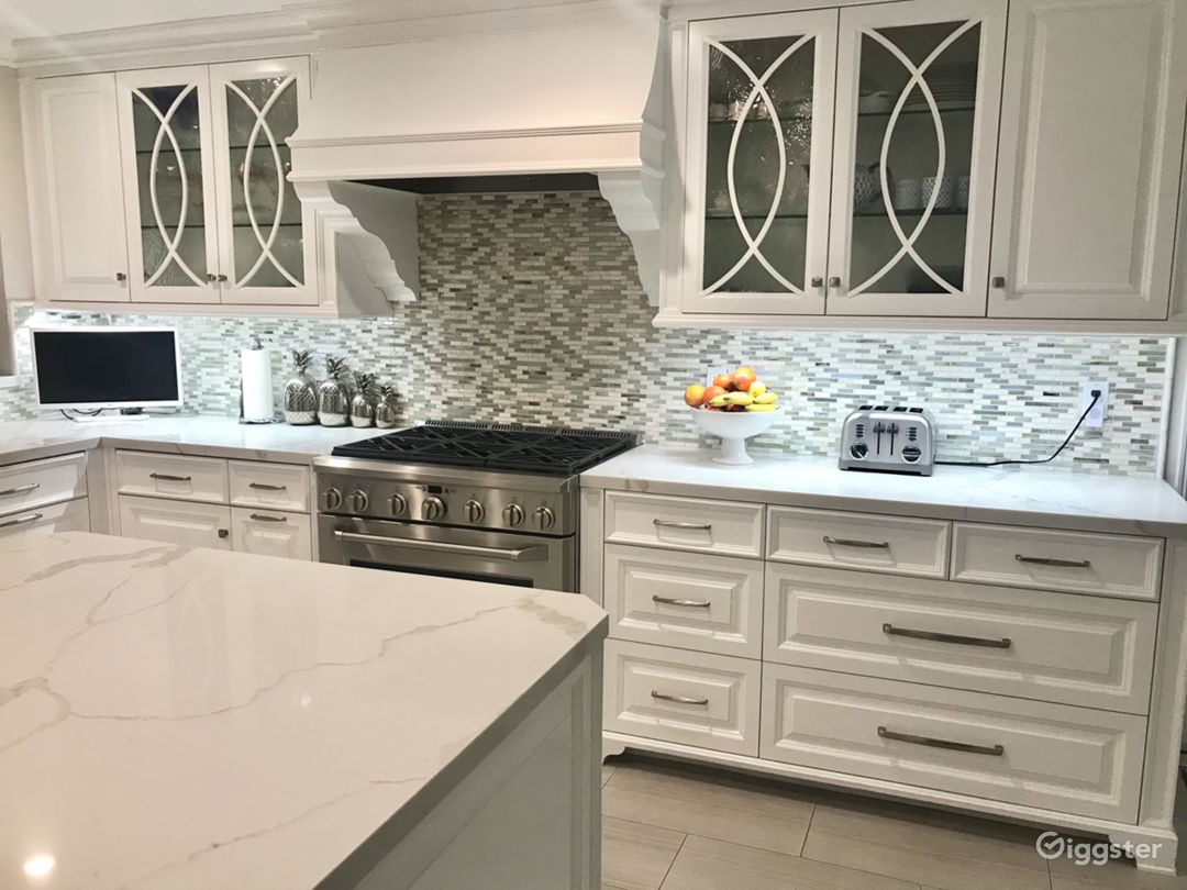Transitional Open White Kitchen Photo 3