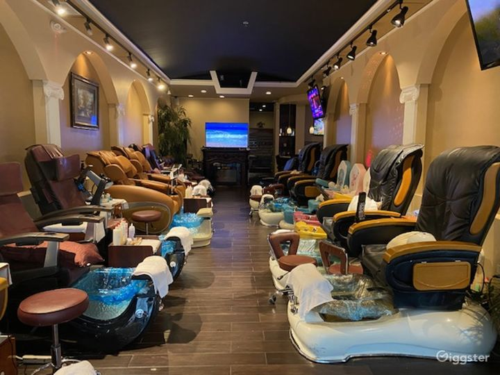Upscale Nail Salon w/Kids Section & Private Room