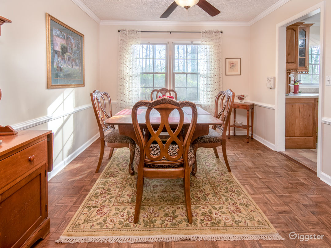 Dining Room with Antique Furniture